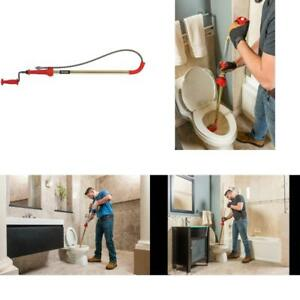 Toilet Auger Cable Drain Snake Hand Crank Steel Tubing Removable Handle K6p 6ft