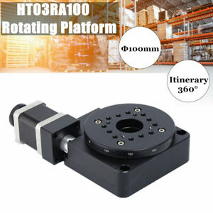 Electric Rotating Machine Optical Motorized Platform 360 Rotation Stage 100mm