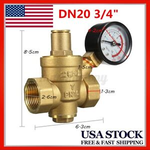 Dn20 3 4 Brass Water Pressure Reducer Reducing Regulator Valve Gauge Pn1 6 us