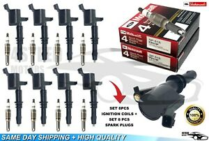 Spark Plug Ignition Coil Set For Ford F150 Explorer Expedition Dg 511 Sp 515