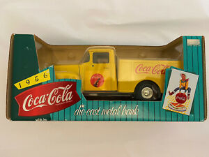 Coca-Cola ERTL Die-Cast Metal Bank 1956 Delivery Truck E600 Pre-owned- unopened