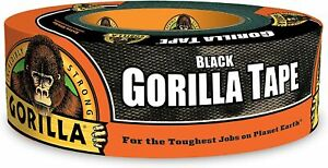 Gorilla Black Duct Tape 1 88 X 35 Yd Black pack Of 1 Free Shipping