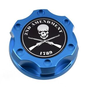 Blue Racing Oil Filler Engine Cap 2nd Amendment 1789 For Toyota Scion Lexus