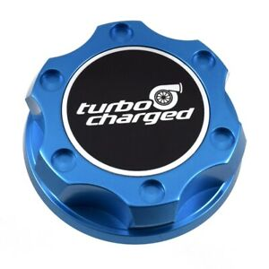 Blue Racing Oil Filler Engine Cap Turbo Charged Emblem For Toyota Scion Lexus