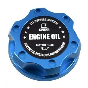 Blue Racing Oil Filler Engine Cap Black Engine Oil Emblem For Toyota Scion Lexus