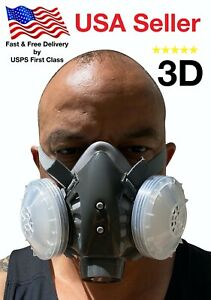 3d Half Face Respirator Large Brand New August 2020 Stock Respirator Paint