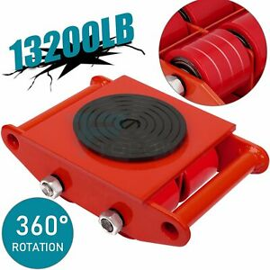 Industri Heavy Duty Machine Dolly Skate Machinery Roller Mover Cargo Trolley Red