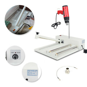 New 12 Shrink Wrap Machine 1800w Heat Gun Cd Iron Construction With Tape