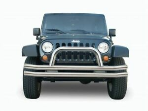 Rampage Double Tube Front Bumper With Hoop For 97 06 Wrangler Tj