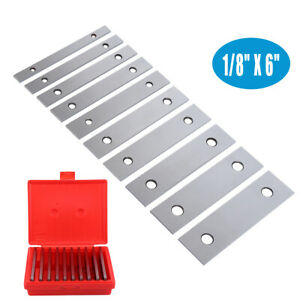1 8 Ultra Thin Steel Parallel Set 10 Pair Parallels 00002 Hardened In Case