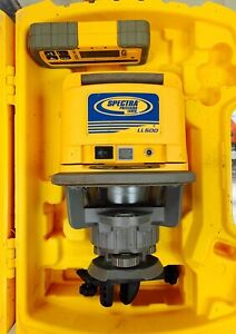 Spectra Precision Ll500 Rotary Laser Level W Receiver And Case