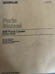 Caterpillar 939 Power Shift Track Loader Parts Manual Book 9gl1 up
