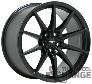 19x10 5 Ford Mustang Gt350 Shelby Black Wheel Rim Factory Oem 19 Front 10053