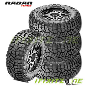 4 Radar Renegade Rt 33x12 50r20lt 114q 10 Ply E All Terrain Truck Suv M S Tires