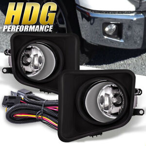 Clear Lens Fog Lights Off road Lamp Upgrade Kit W Bulbs For 14 20 Toyota Tundra