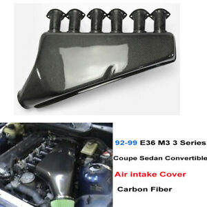 Carbon Air Intake Cover Kit For Bmw 92 99 E36 M3 3series Coupe Convertible Sedan
