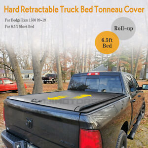 For 09 19 Dodge Ram1500 Truck 6 5ft Fleetside Bed Hard Roll up Tonneau Cover