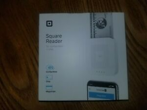 Square Reader Contactless Credit Card Magnetic Strip And Chip Reader White