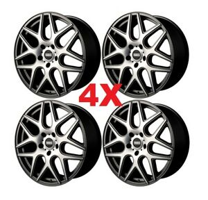 20 Machined Gray Wheels Rims Staggered Offset Mesh Rohana Mrr Esr Niche