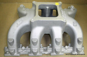 Gm 19166950 Lsx Ct Intake Tall Deck 4150 Flange W gaskets Bolts Untouched
