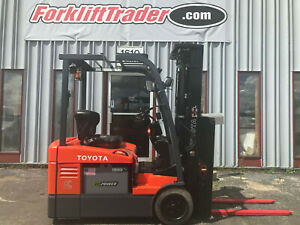 2014 Toyota 7fbeu15 3000lb Cushion Tire Forklift