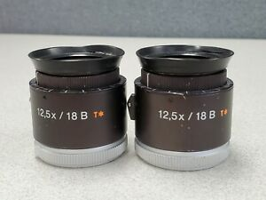 Carl Zeiss Lot Of 2 Eyepieces 12 5x 18b T Surgical Opmi Microscope