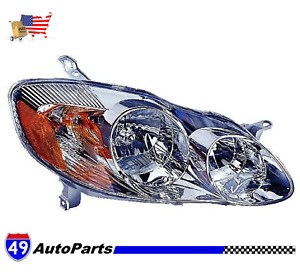 For 2003 2004 Toyota Corolla Ce Le Right Pass Side Rh Headlight Assy To2503139