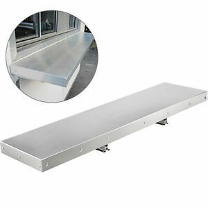Convenient Serving Shelf For Concession Window Stands And Food Trucks 4 Ft