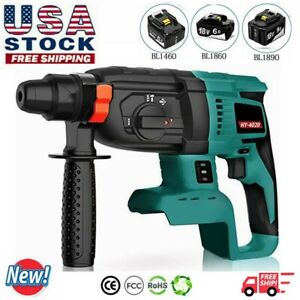 Sds Plus Brushless 18v Cordless Rotary Hammer Drill 3 Modes For Makita Dhr242
