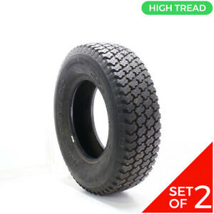 Set Of 2 Used Lt 245 75r16 Goodyear Wrangler At 1n a 14 32