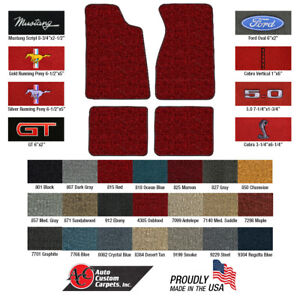 1979 1993 Mustang Carpeted Floor Mats Acc Choose Color Logo