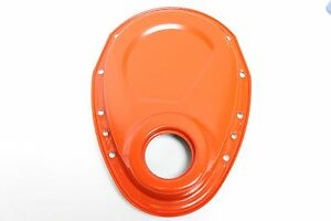 Sb Chevy Orange Steel Timing Chain Cover 283 305 327 350 383 400 Gears Sbc