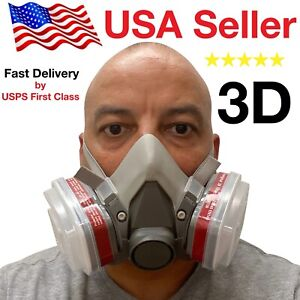 3d Half Face Respirator Large Brand New May 2020 Stock Respirator Paint