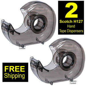2 Each Scotch H127 Hand Tape Dispenser For 1 Core Tapes