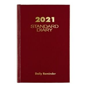 At a glance Standard Daily Diary 5 X 7 1 2 Red