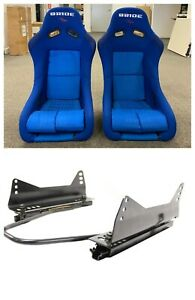 New Pair 2 Seats Bride Vios Blue Gradation Frp Seats Low Max With Sliders