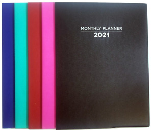 2021 Monthly Planner Calendar Agenda 7 5 In X 10 25 In Select Your Color