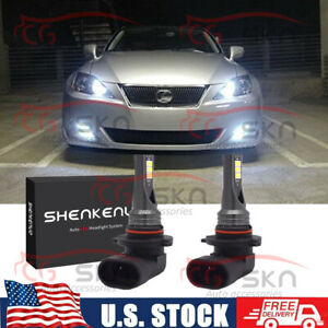 Super 6000k White 9005 Led Daytime Running Light Drl Bulbs For Lexus Es Is Rx Ls