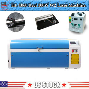 Hl Reci W2 100w 1060 Co2 Usb Laser Engraving Cutting Machine With Cw3000 Chiller