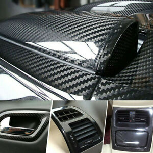 Carbon Fiber Vinyl Film Car Interior Wrap Stickers Auto Parts Accessories 12x60