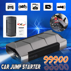 99900mah Portable Car Jump Starter Power Bank Mini Slim Engine Battery Charger I