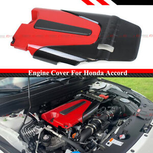 For 18 2020 10th Gen Honda Accord 1 5t Red Black Type r Style Engine Valve Cover