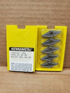New Pack Of 5 Inserts Kennametal Vnmg 432 K68