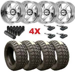 Forged Polished Wheels Rims Tires 33 12 50 20 33 12 50 20 Mt Mud Tires Moto Fuel