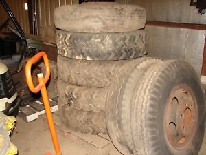 Lot Of 7 Tires And Wheels 10 00 20 Tire