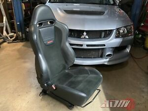 Mitsubishi Lancer Evolution Ix Reacaro Driver Seat Genuine Oem 7 8 9
