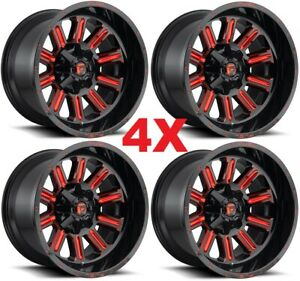 15 Fuel Wheels Rims Gloss Black Candy Red D621 Wrangler Yj Tj Jl