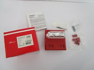 Cooper Wheelock Mt 241575w fr Multitone Fire Alarm Horn Strobe 128422 24 Vdc Red