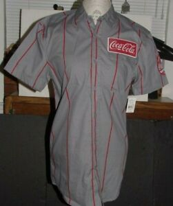 COCA COLA BUTTON DOWN UNIFORM SHIRT CAMPSHIRT NEW WITH TAGS