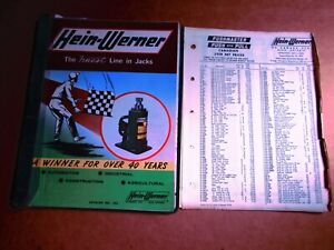 Hein werner Jack Tool Catalog Jack Price Guide 1975 Auto Construction Ag Indus